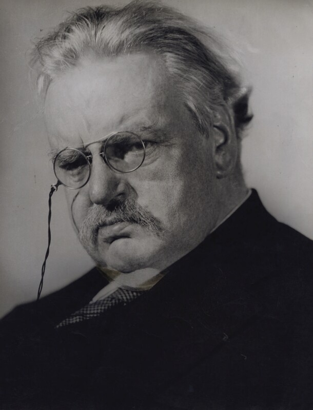 G.K. Chesterton, by Howard Coster, 1926 - NPG x1791 - © National Portrait Gallery, London