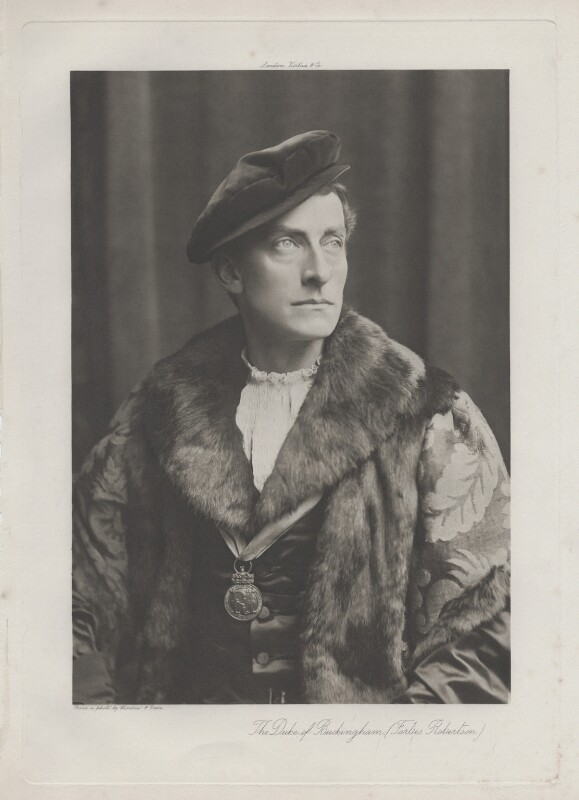 Sir Johnston Forbes-Robertson as the Duke of Buckingham in 'Henry VIII', by Window & Grove, published by  Virtue & Co, 1892-1893 - NPG x17964 - © National Portrait Gallery, London