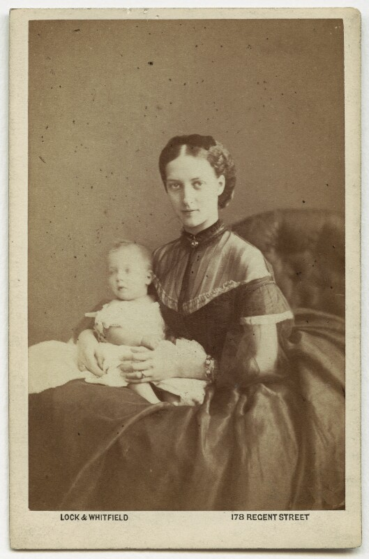 Prince Albert Victor, Duke of Clarence and Avondale; Queen Alexandra, by Lock & Whitfield, 1864 - NPG x18898 - © National Portrait Gallery, London