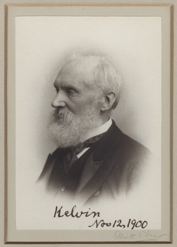 William Thomson, Baron Kelvin, by Elliott & Fry, 1900 - NPG x18990 - © National Portrait Gallery, London