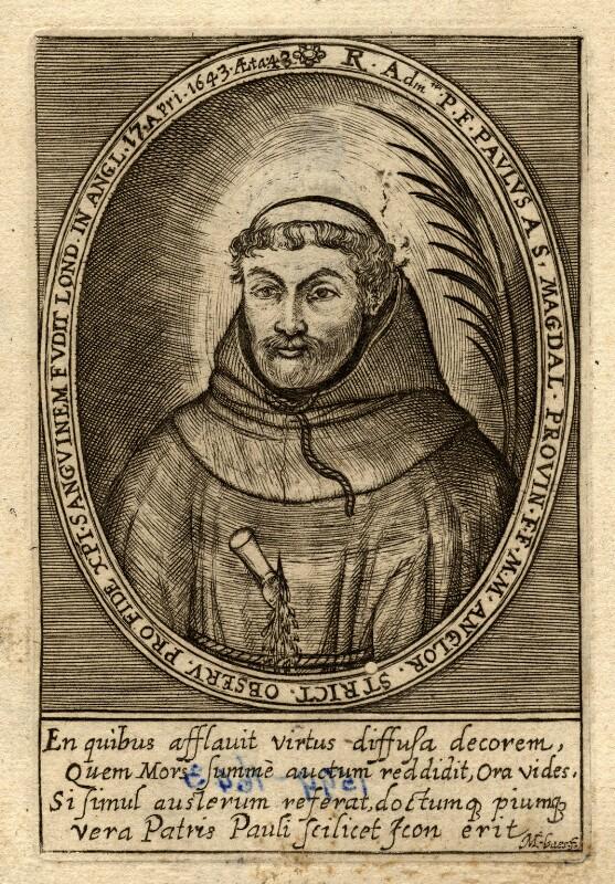 Henry Heath ('Paul of St Magdalen'), by Martin Baes (Bas, Basse, Bassius), published 1649 - NPG D10558 - © National Portrait Gallery, London