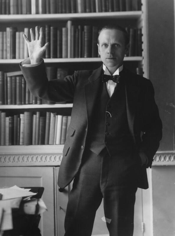 Sir (Ralph) Norman Angell (né Ralph Norman Angell Lane), by Bassano Ltd, circa 1913 - NPG x19324 - © National Portrait Gallery, London