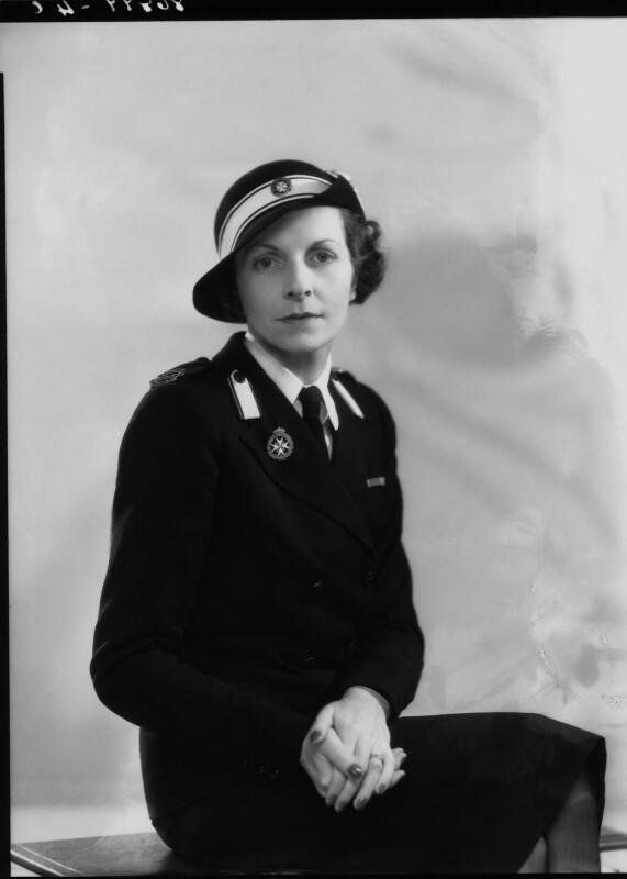 Edwina Cynthia Annette (née Ashley), Countess Mountbatten of Burma, by Bassano Ltd, 2 May 1940 - NPG x19455 - © National Portrait Gallery, London