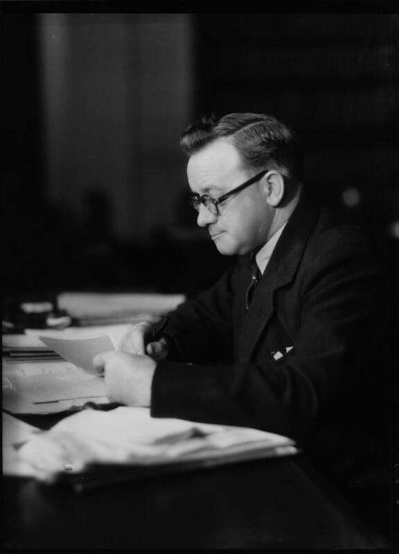 Herbert Stanley Morrison, Baron Morrison of Lambeth, by Bassano Ltd, 28 November 1940 - NPG x19474 - © National Portrait Gallery, London