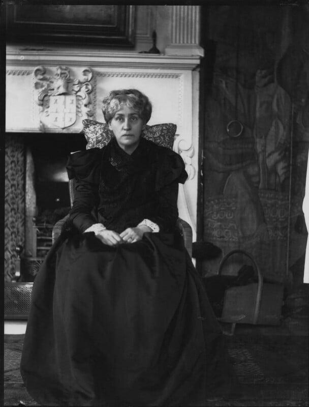 Jane Morris (née Burden), by Sir Emery Walker, May 1898 - NPG x19601 - © National Portrait Gallery, London