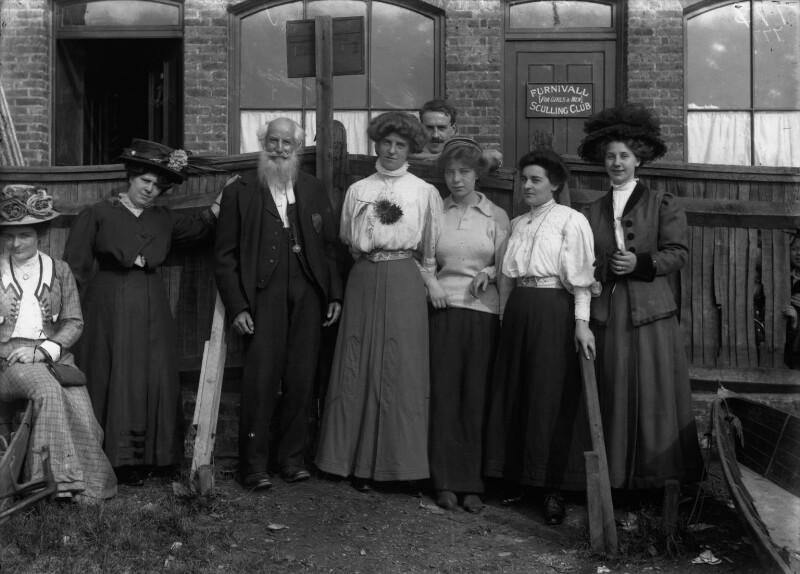 Eleanor Nichel Furnivall (née Dalziel); Frederick James Furnivall and family, by Sir Emery Walker, circa 1900 - NPG x19693 - © National Portrait Gallery, London