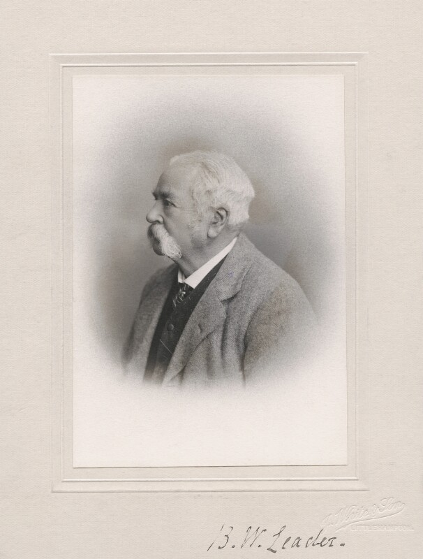 Benjamin Williams Leader (né Benjamin Williams), by John White & Son, 1921 or before - NPG x19922 - © National Portrait Gallery, London