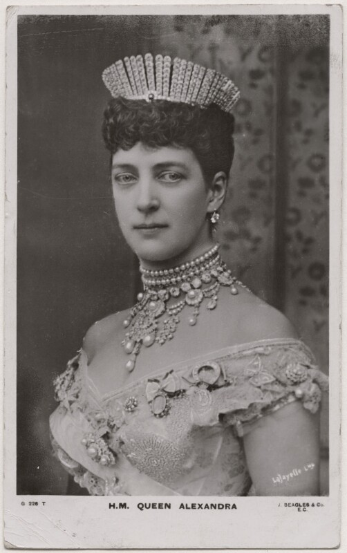 Queen Alexandra, by Lafayette, published by  J. Beagles & Co, circa 1906 (6 July 1893) - NPG x19943 - © National Portrait Gallery, London