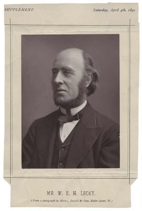 (William) Edward Hartpole Lecky, by James Russell & Sons, published 4 April 1891 - NPG x19969 - © National Portrait Gallery, London