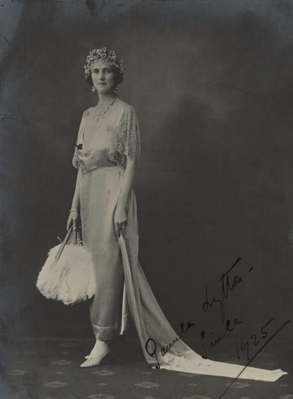 Pamela Frances Audrey Bulwer-Lytton (née Chichele-Plowden), Countess of Lytton, by Unknown photographer, 1925 - NPG x20180 - © National Portrait Gallery, London