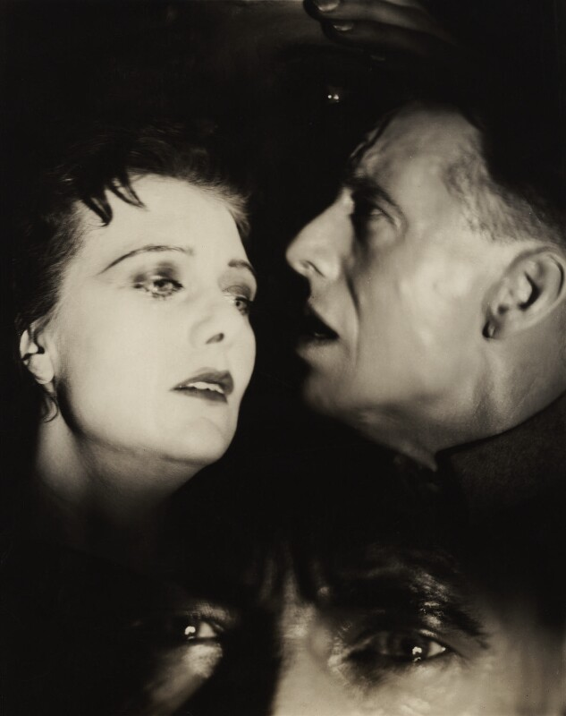 Rosalinde Fuller and Maurice Browne in 'The unknown Warrior', by Francis Bruguière, 1928 - NPG x20445 - © reserved; collection National Portrait Gallery, London