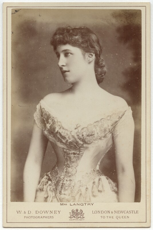 Lillie Langtry, by W. & D. Downey, early-mid 1880s - NPG x20590 - © National Portrait Gallery, London