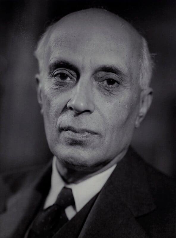 Jawaharlal Nehru, by Howard Coster,  - NPG x2067 - © National Portrait Gallery, London