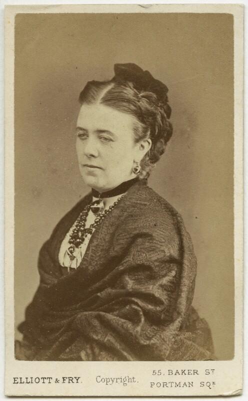 Marie Effie (née Wilton), Lady Bancroft, by Elliott & Fry, 1870s - NPG x208 - © National Portrait Gallery, London