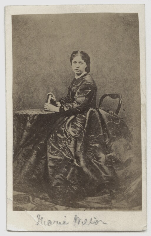Marie Effie (née Wilton), Lady Bancroft, by Gladwell, late 1850s-early 1860s - NPG x210 - © National Portrait Gallery, London