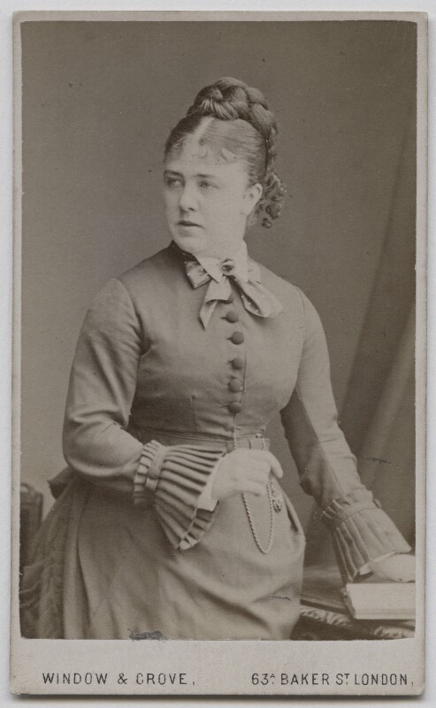 Marie Effie (née Wilton), Lady Bancroft, by Window & Grove, circa 1874 - NPG x212 - © National Portrait Gallery, London