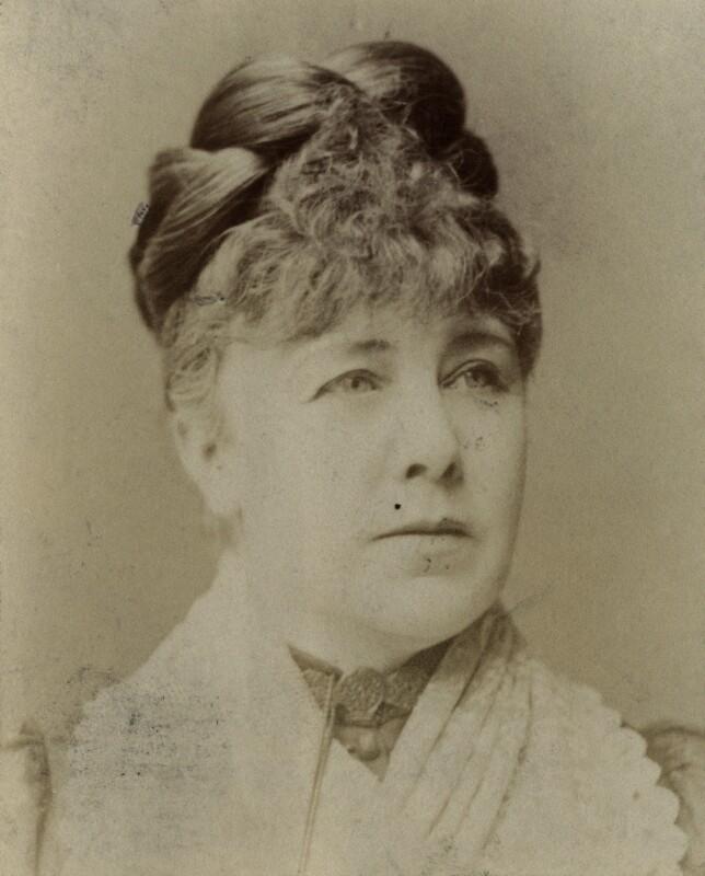 Marie Effie (née Wilton), Lady Bancroft, by Unknown photographer, circa 1878 - NPG x213 - © National Portrait Gallery, London