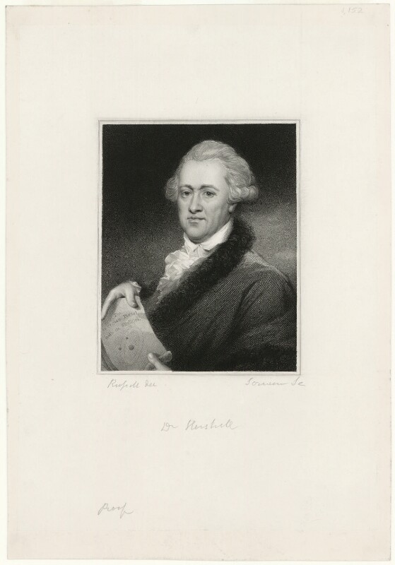 Sir William Herschel, by Edward Scriven, after  John Russell, early 19th century - NPG D10583 - © National Portrait Gallery, London