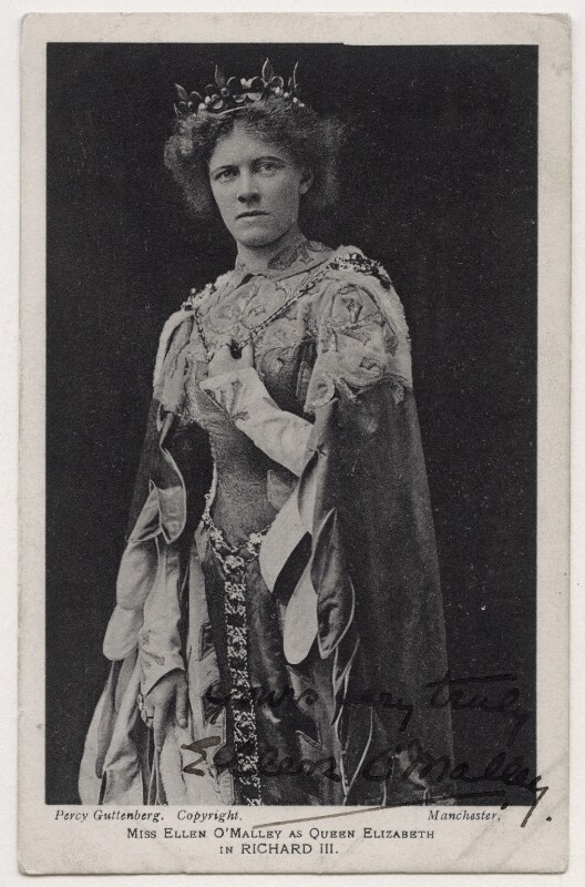Ellen O'Malley as Queen Elizabeth in 'Richard III', by (Alexander) Percy Guttenberg, 1904 - NPG x21688 - © National Portrait Gallery, London