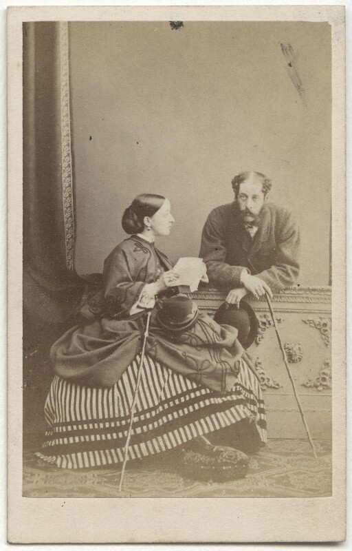 Florence Cecilia (née Paget), Marchioness of Hastings (later Lady Chetwynd); Henry Paget, 4th Marquess of Anglesey, by Lambert Weston & Son, circa 1864 - NPG x21704 - © National Portrait Gallery, London