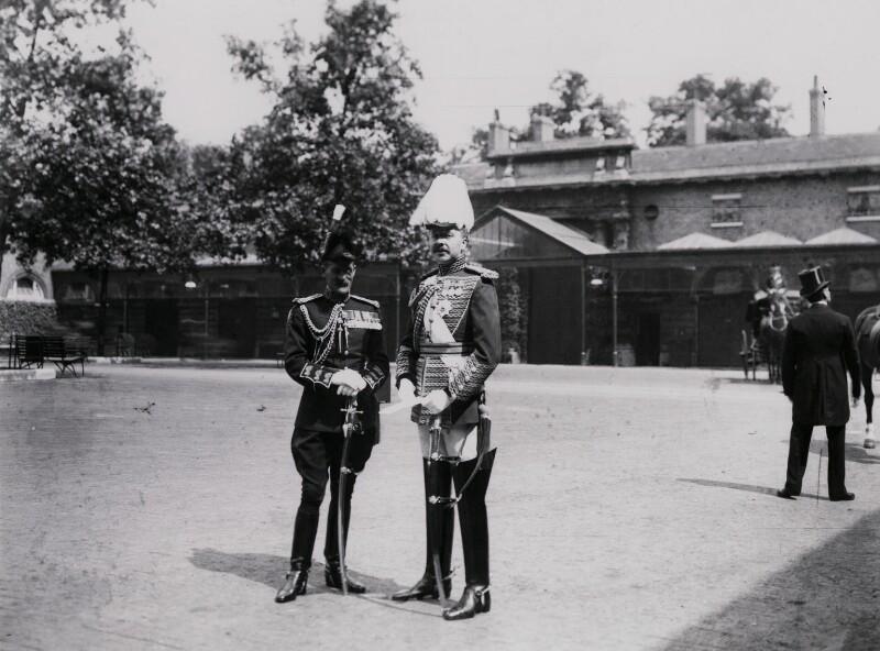 Paul Aloysius Kenna; Bernard Arthur William Patrick Hastings Forbes, 8th Earl of Granard, by Mrs Albert Broom (Christina Livingston), 1910 - NPG x221 - © National Portrait Gallery, London