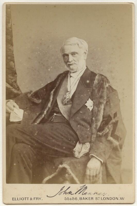 John James Robert Manners, 7th Duke of Rutland, by Elliott & Fry, 1880s - NPG x22143 - © National Portrait Gallery, London