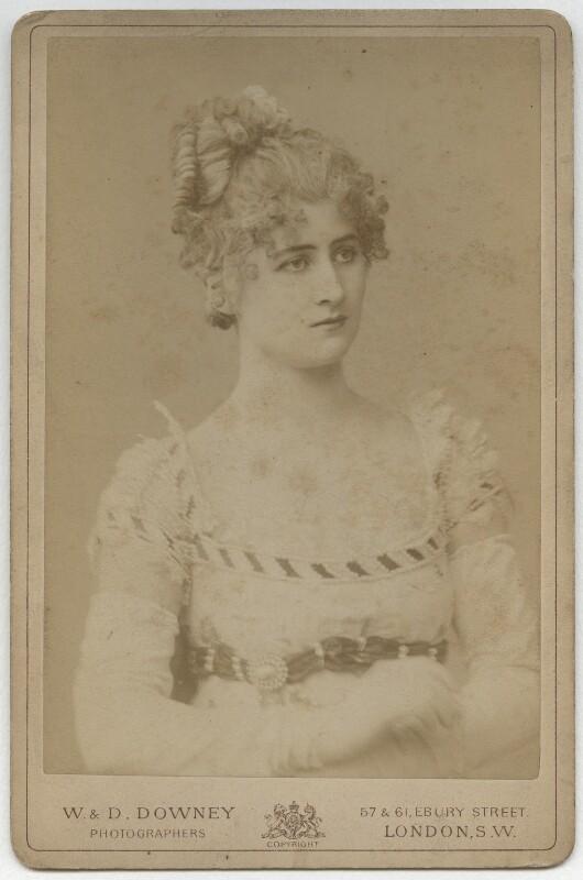 Mary Anderson (Mrs de Navarro) as Pauline in 'The Lady of Lyons', by W. & D. Downey, 1883 - NPG x22236 - © National Portrait Gallery, London