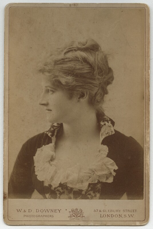 Mary Anderson (Mrs de Navarro), by W. & D. Downey, mid 1880s - NPG x22237 - © National Portrait Gallery, London