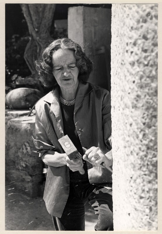 Barbara Hepworth, by Crispin Eurich, late 1960s - NPG x26705 - © Crispin Eurich Photographic Archive