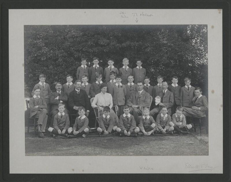 School photograph including John Bicknell Auden; John Lea Nevinson and W.H. Auden, by Elliott & Fry, circa 1917 - NPG x25119 - © National Portrait Gallery, London