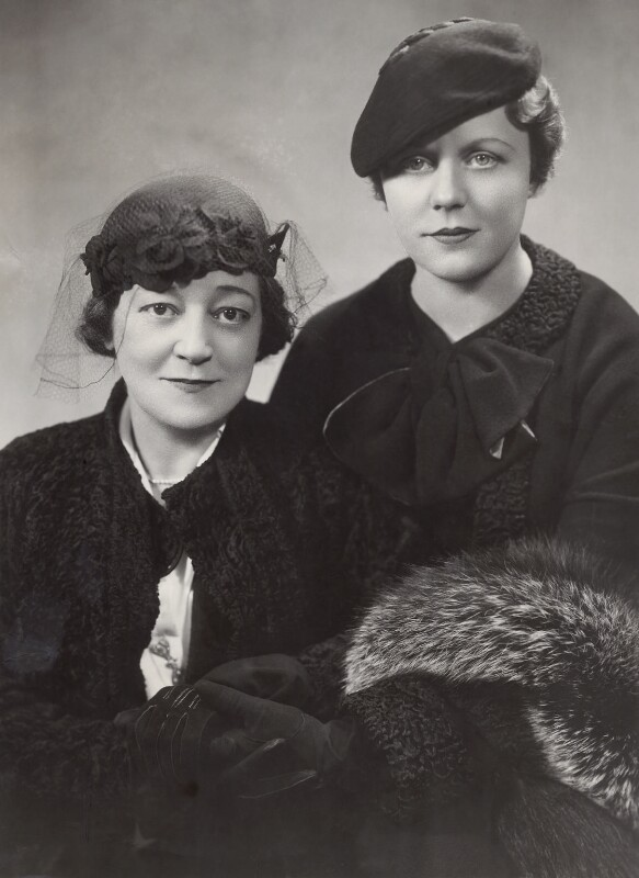 Madge Titheradge; Edna Best, by Stage Photo Company, 1936 - NPG x25919 - © National Portrait Gallery, London