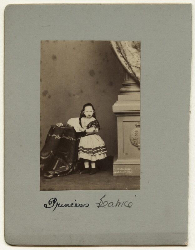 Princess Beatrice of Battenberg, by John Jabez Edwin Mayall, February 1861 - NPG x26127 - © National Portrait Gallery, London