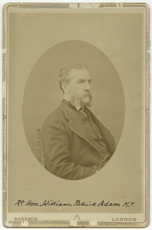 William Patrick Adam, by Herbert Rose Barraud, early 1880s - NPG x266 - © National Portrait Gallery, London