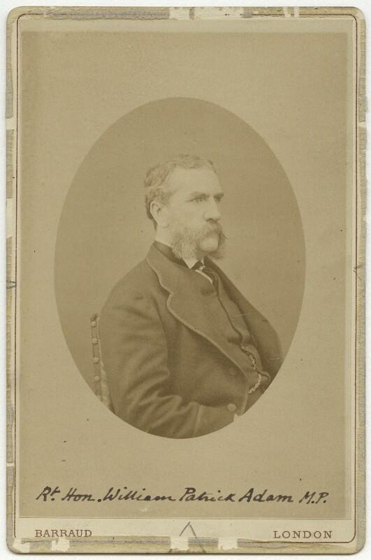 William Patrick Adam, by Herbert Rose Barraud, early 1880s - NPG x266 - © National Portrait Gallery, London