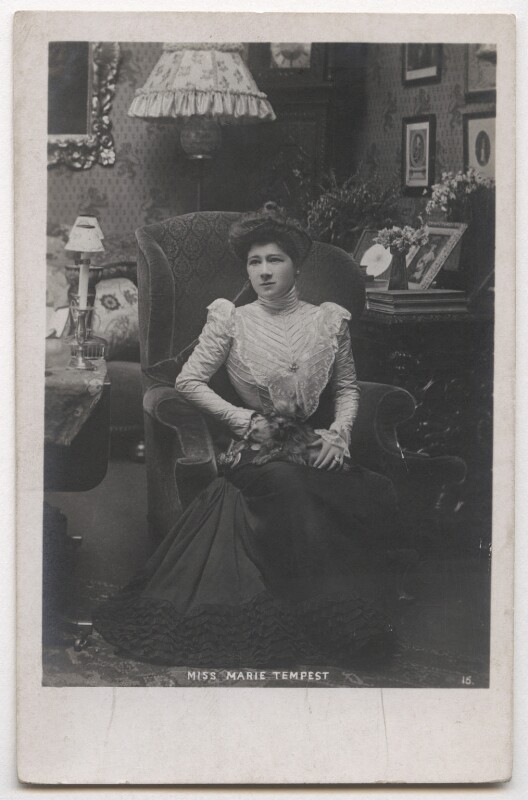 Marie Tempest, by Unknown photographer, late 1890s-early 1900s - NPG x26739 - © National Portrait Gallery, London