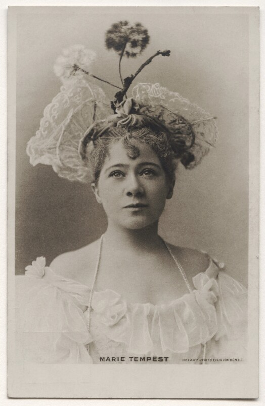Marie Tempest, published by Rotary Photographic Co Ltd, before 1902 - NPG x26741 - © National Portrait Gallery, London