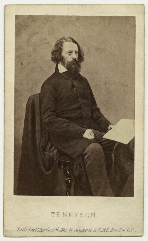 Alfred, Lord Tennyson, by James Mudd, published by  Cundall, Downes & Co, 1861 - NPG x26790 - © National Portrait Gallery, London