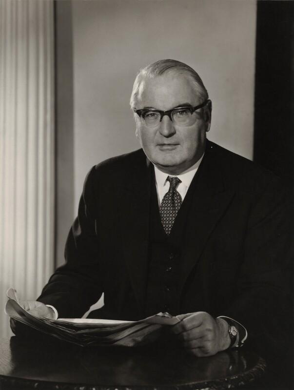 Reginald Edward Manningham-Buller, 1st Viscount Dilhorne, by Walter Bird, 27 February 1961 - NPG x26937 - © National Portrait Gallery, London