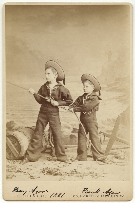 Hon. Henry Augustus Bernard Agar; Hon. Francis William Arthur ('Frank') Agar, by Elliott & Fry, 1881 - NPG x270 - © National Portrait Gallery, London