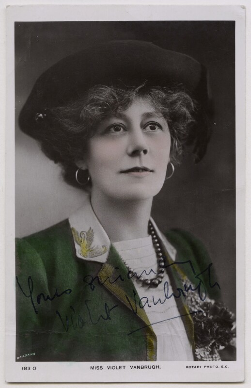 Violet Vanbrugh (Violet Augusta Mary Barnes), by Bassano Ltd, published by  Rotary Photographic Co Ltd, 1900s - NPG x27118 - © National Portrait Gallery, London