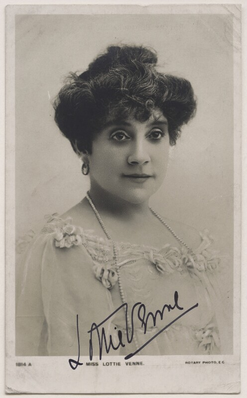 Lottie Venne, published by Rotary Photographic Co Ltd, 1900s - NPG x27121 - © National Portrait Gallery, London