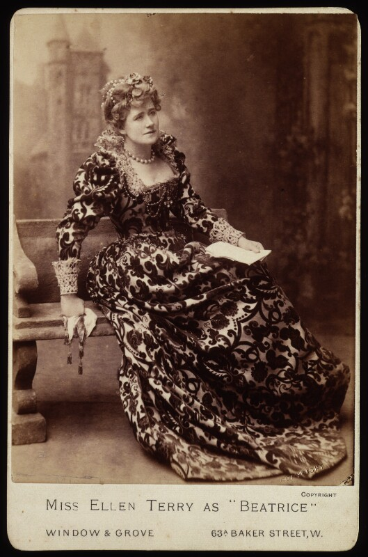 Ellen Terry as Beatrice in 'Much Ado About Nothing', by Window & Grove, circa 1891 - NPG x16969 - © National Portrait Gallery, London