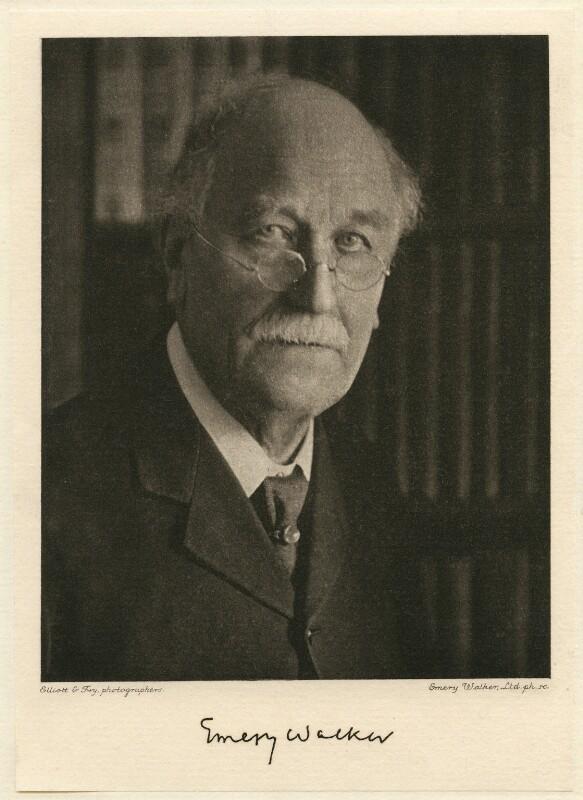 Sir Emery Walker, by Walter Benington, for  Elliott & Fry, circa 1926 - NPG x27215 - © National Portrait Gallery, London