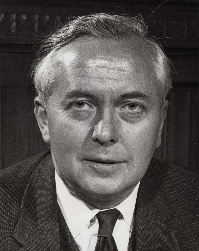 Harold Wilson, by Unknown photographer, for  Central Office of Information, May 1962 - NPG x27447 - © National Portrait Gallery, London