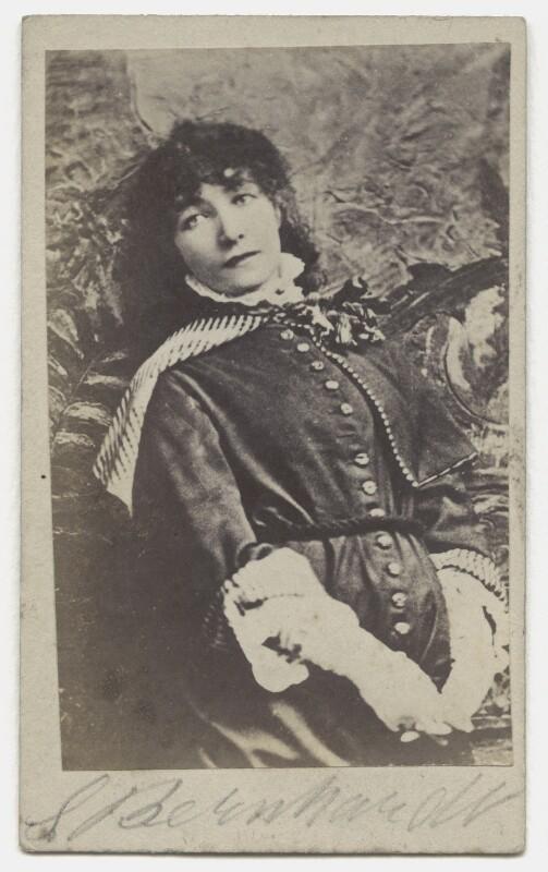 Sarah Bernhardt, after Napoleon Sarony, circa 1880 - NPG x27585 - © National Portrait Gallery, London