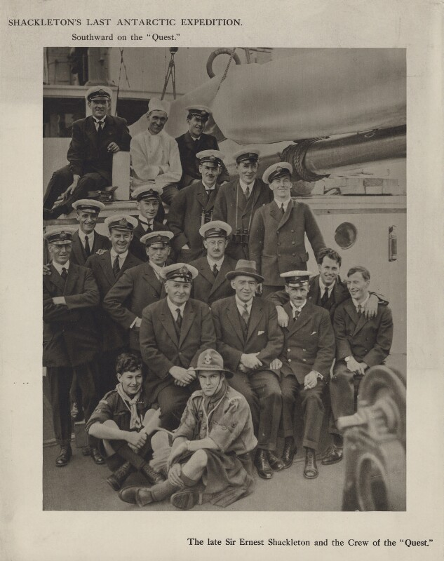 'The late Sir Ernest Shackleton and the Crew of the