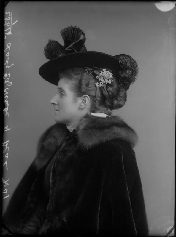 Frances (née Foley), Lady Edgcumbe, by Alexander Bassano, circa 1896 - NPG x28227 - © National Portrait Gallery, London