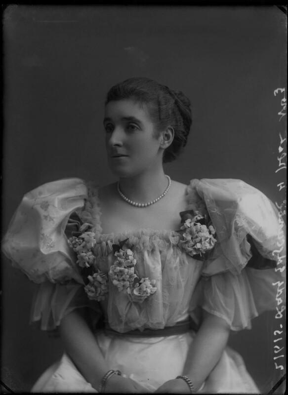 Frances (née Foley), Lady Edgcumbe, by Alexander Bassano, 1895 - NPG x28229 - © National Portrait Gallery, London