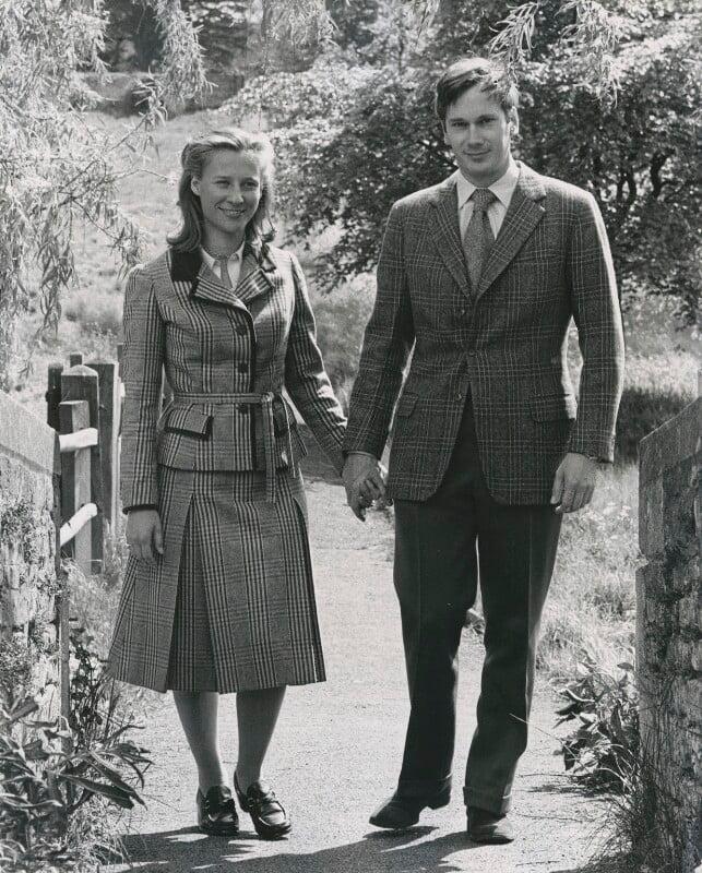 Birgitte Eva Van Deurs (née Henriksen), Duchess of Gloucester; Prince Richard, Duke of Gloucester, by Tim Jenkins, 1976 - NPG x28248 - © Tim Jenkins