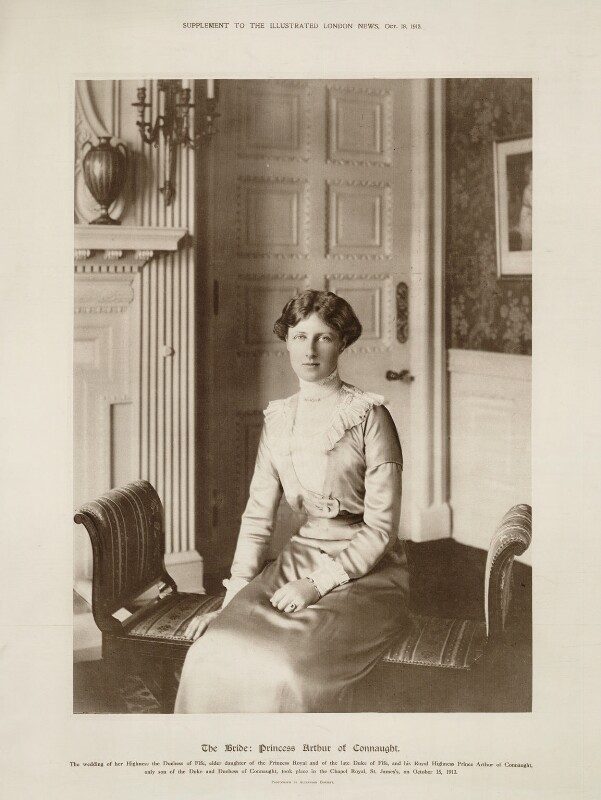 Princess Alexandra, Princess Arthur of Connaught, by Alexander Corbett, published 18 October 1913 - NPG x28728 - © National Portrait Gallery, London